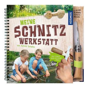 Opinel Meine Schnitzwerkstatt Buch inklusive Kinder-Schnitzmesser (9783440145548)