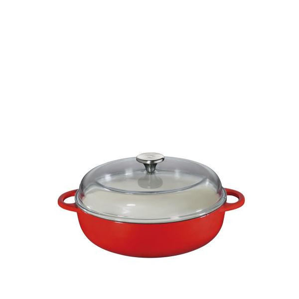 Küchenprofi Bauernpfanne 28 mit Glasdeckel rot (4007371056731)