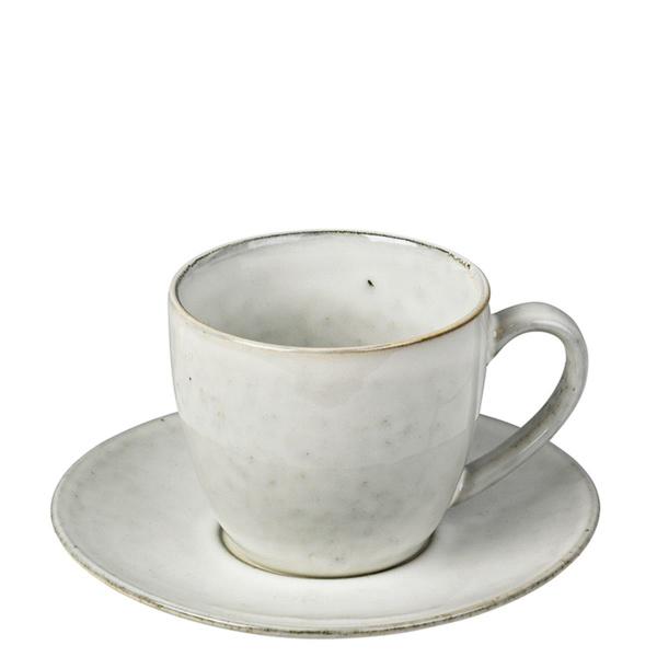 Broste Tasse mit Untertasse  Ø 14 cm  x H 8