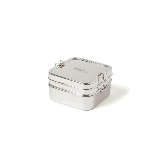Eco Brotbox Cube Box XL zweilagiger quadr. Behälter 13