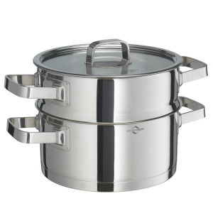 Küchenprofi Kochtopf m. Dämpfeinsatz 20 cm SAN REMO SAN REMO (4007371065504)
