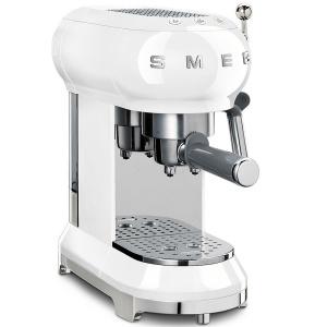 SMEG Espresso-Kaffeemaschine weiß 50s Retro Style (8017709259563)