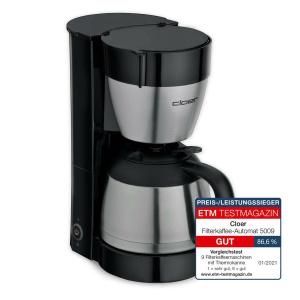 Cloer CLOER Kaffeeautomat 5009 8T Edelstahlkanne schwarz (4004631011561)