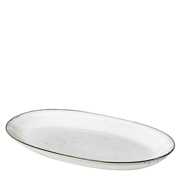 Broste Platte Oval 17x30 cm Nordic Sand (5710688134328)