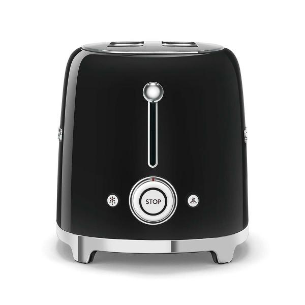 SMEG Toaster 2Scheiben schwarz 50s Retro Style (8017709187002)