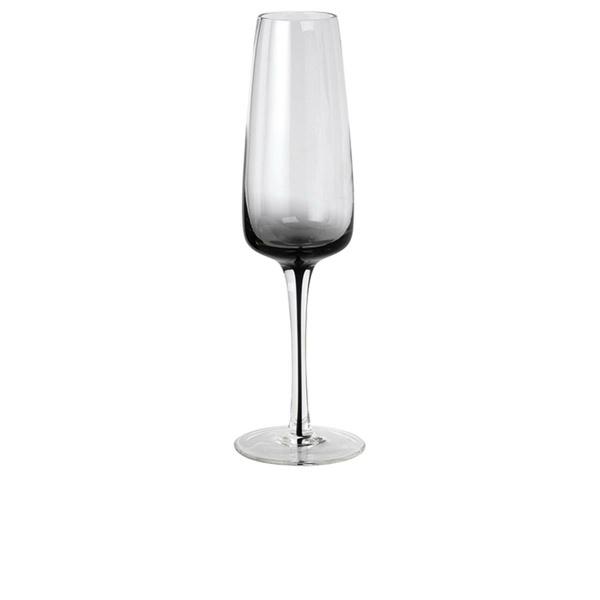 Broste Champagnerglas Smoke Clear/Grey handgearbeitet