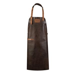 CRAFTED LEATHER & LIEFSTYLE Schürze braun Rustic leather Rustic Leather  ()