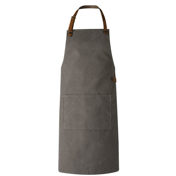 CRAFTED LEATHER & LIEFSTYLE Schürze grau Washed canvas  ()