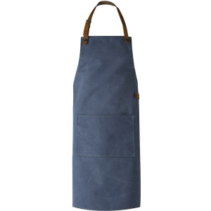 CRAFTED LEATHER & LIEFSTYLE Schürze blau Washed canvas  ()