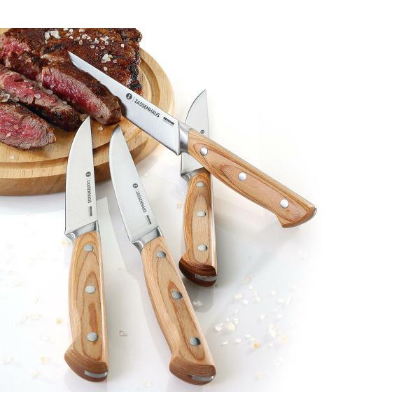 Zassenhaus Steakmesser 4er-Set Klingenstahl/Pakkaholz (4006528070804)