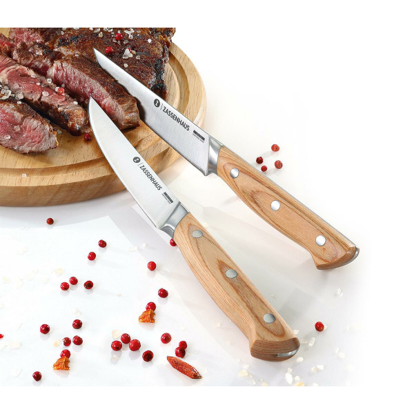 Zassenhaus Steakmesser 2er-Set Klingenstahl/Pakkaholz (4006528070811)
