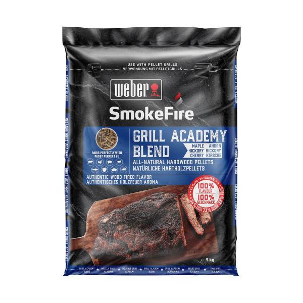 Weber 9kg Holzpellets Academy Blend SmokeFire 100% natürlich (077924129742)