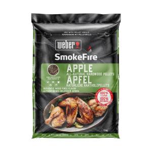 Weber 9kg SmokeFire Holzpellets Apfelholz 100% natürlich (077924129766)