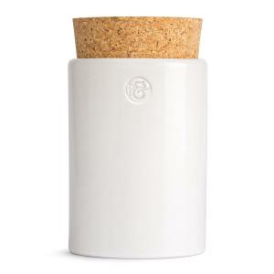 Pfeffersack&Söhne Keramikdose mit Korken weiß Ø 6