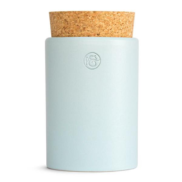 Pfeffersack&Söhne Keramikdose mit Korken blasstürkis Ø 6