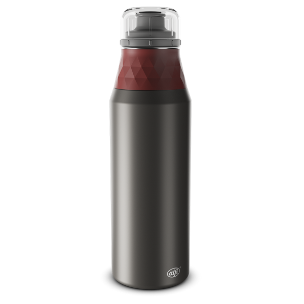 Alfi Trinkflasche cool grey/med. red 0