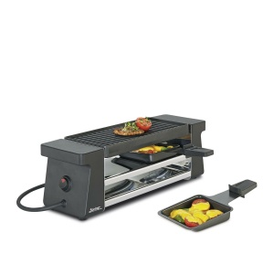 Spring Raclette 2 Compact schwarz mit Aluminiumplatte EU (4052356001442)