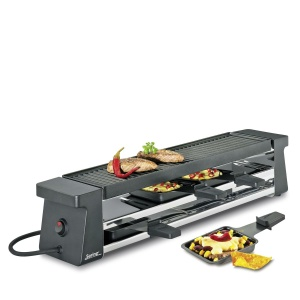Spring Raclette 4 Compact schwarz mit Aluminiumplatte EU (4052356003385)